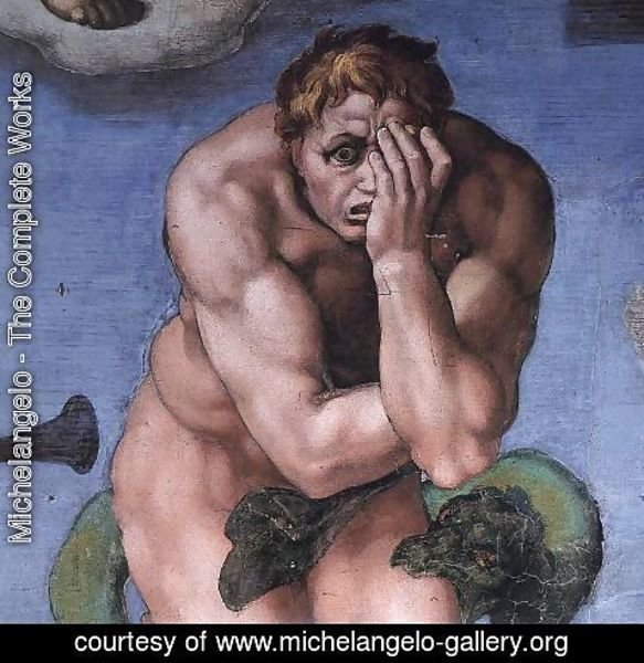 Michelangelo - Last Judgment (detail) 12