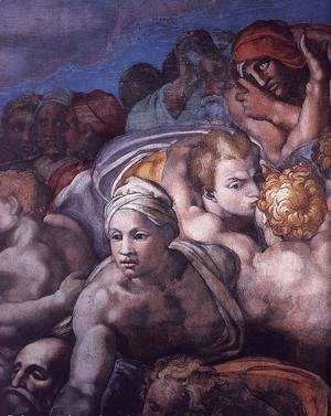Michelangelo - Last Judgment (detail) 14