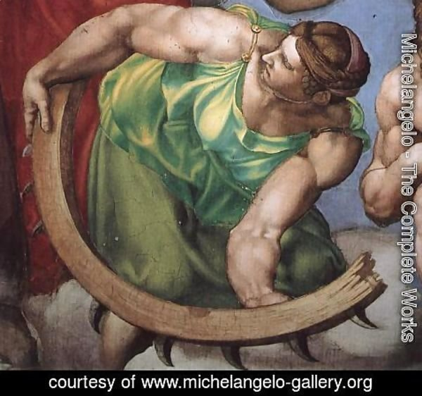Michelangelo - Last Judgment (detail) 15