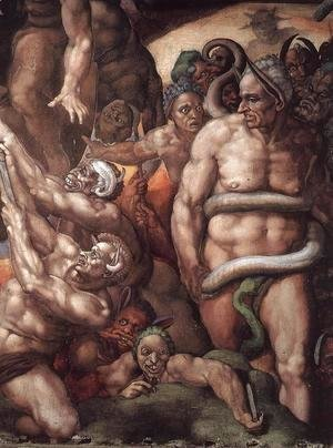 Michelangelo - Last Judgment (detail) 16