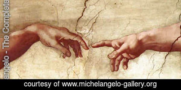 Creation of Adam Hands only