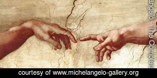 Michelangelo - Creation of Adam Hands only
