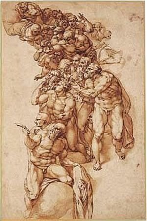 Michelangelo - Pen And Brown Ink And Wash