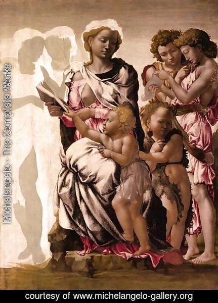 Michelangelo - Virgin and Child with St John and Angels