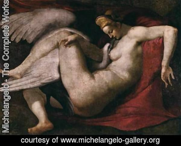Michelangelo - Leda and the Swan 2