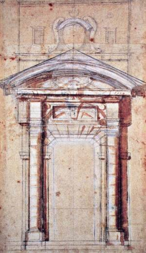 Michelangelo - Study for Porta Pia