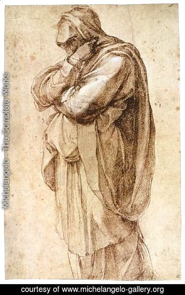 Michelangelo - Study of a Mourning Woman