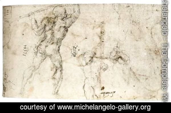Michelangelo - Figure Studies (verso)
