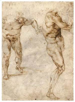 Michelangelo - Two Nude Studies (recto)