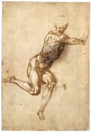 Michelangelo - Sitting Male Nude (recto)