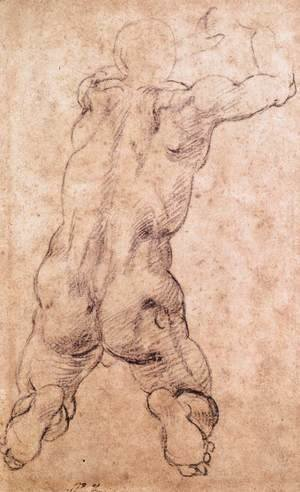 Michelangelo - Kneeling Male Nude