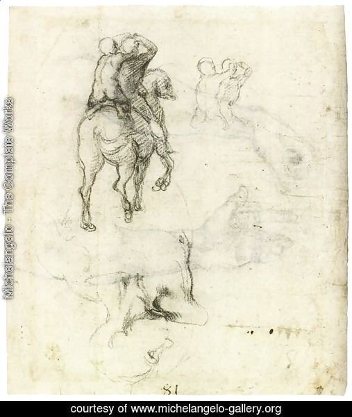 Horse with Two Riders (recto)