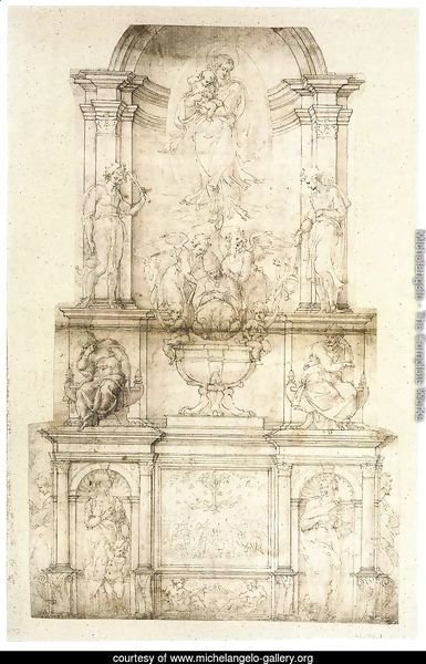 Project for a Wall Tomb for Pope Julius II