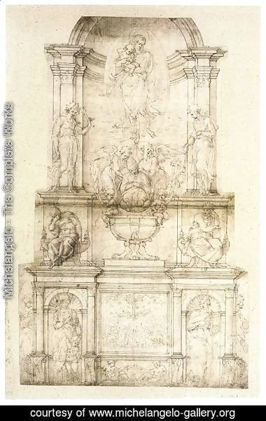 Michelangelo - Project for a Wall Tomb for Pope Julius II