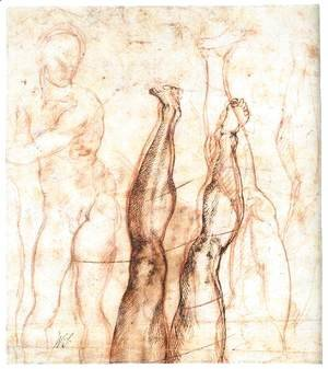 Michelangelo - Studies for The Risen Christ (verso)