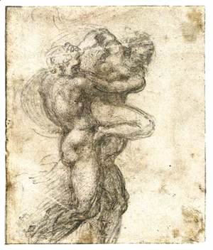 Michelangelo - Man Abducting a Woman (recto)