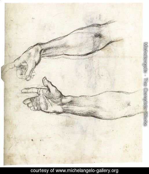 Two Studies of an Outstretched Right Arm (verso)