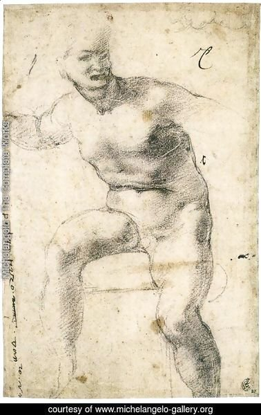 Youthful Nude (verso)