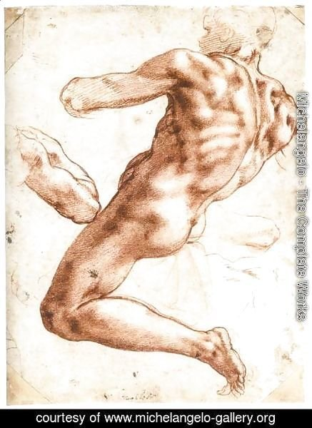 Michelangelo - Sitting Male Nude (recto) 2