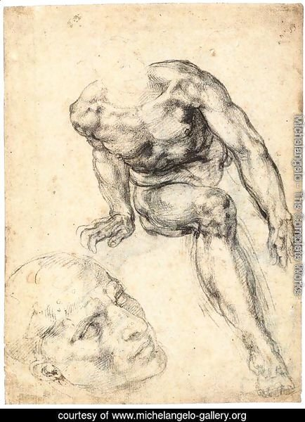 Study of a Male Nude (recto)