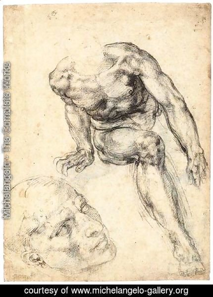 Michelangelo - Study of a Male Nude (recto)