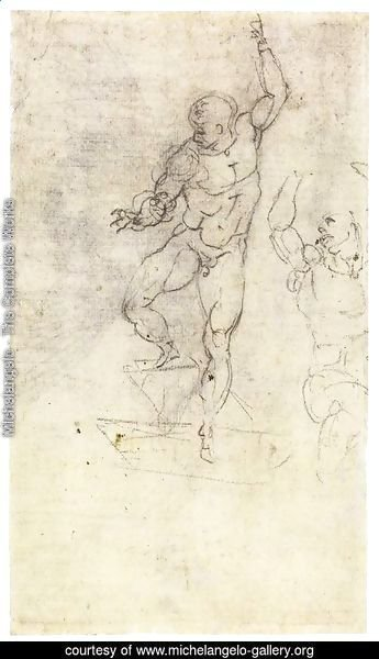 Study for a Risen Christ (verso)