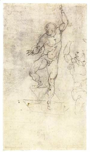 Michelangelo - Study for a Risen Christ (verso)