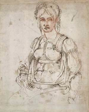 Michelangelo - Portrait of a Woman (recto)