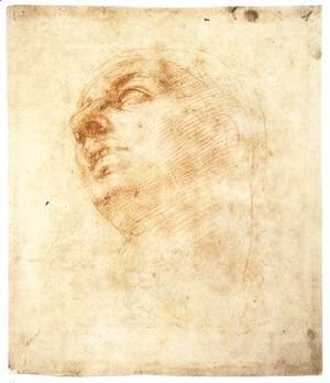 Michelangelo - Study of a Head Looking Upward (recto)