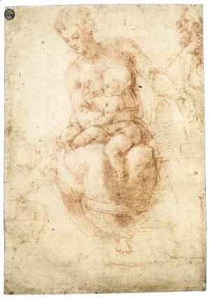 Michelangelo - The Holy Family with the Infant St John (verso)