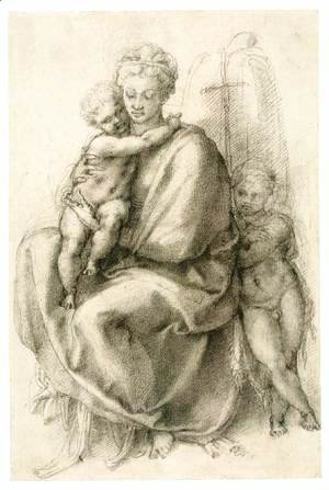 Michelangelo - Madonna and Child with the Infant St John (recto) 2