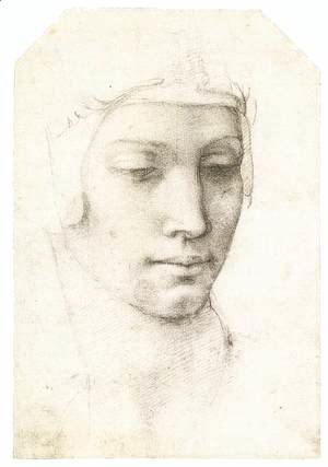 Michelangelo - Head of a Woman (recto)