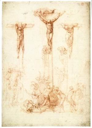 Michelangelo - The Crucifixion of Christ and the Two Thieves