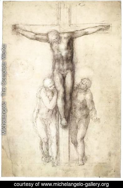 Michelangelo - Christ on the Cross with the Virgin and St John