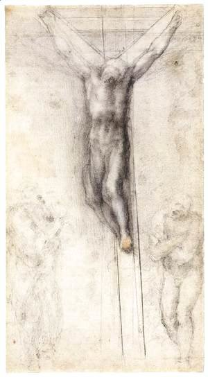 Michelangelo - Christ on the Cross with the Virgin and St John (recto)
