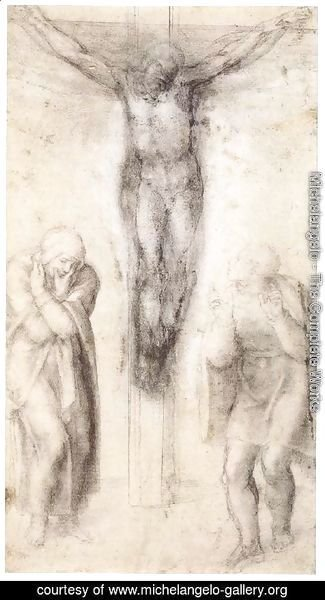 Michelangelo - Christ on the Cross with the Virgin and St John 2