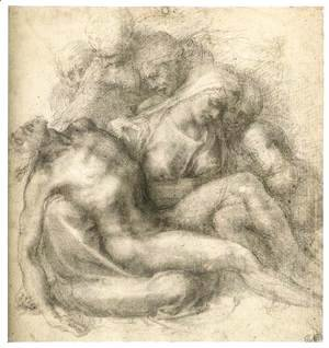 Michelangelo - The Lamentation of Christ (recto)