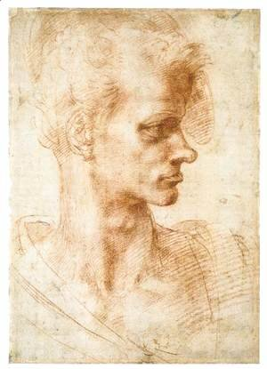 Michelangelo - Bust of a Young Man (recto)