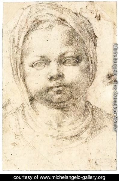 Michelangelo - Study of a Child's Head (recto)