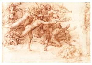 Michelangelo - Archers Shooting at a Herm (recto)