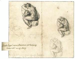 Michelangelo - Sitting Nude Figures