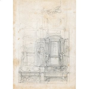 Michelangelo - Studies for a double tomb wall