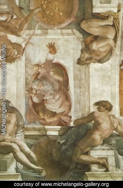 Michelangelo - Sistine Chapel Ceiling God Dividing Land and Water