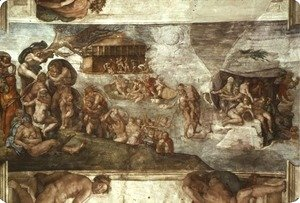 Michelangelo - Sistine Chapel Ceiling The Flood