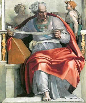 Michelangelo - Sistine Chapel Ceiling The Prophet Joel