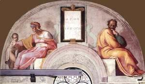Michelangelo - The Ancestors of Christ Azor, Sadoch