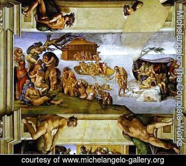 Michelangelo - Sistine Chapel Ceiling The Flood 2