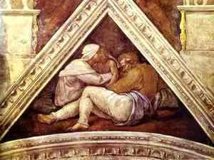 Michelangelo - The Ancestors of Christ Josias