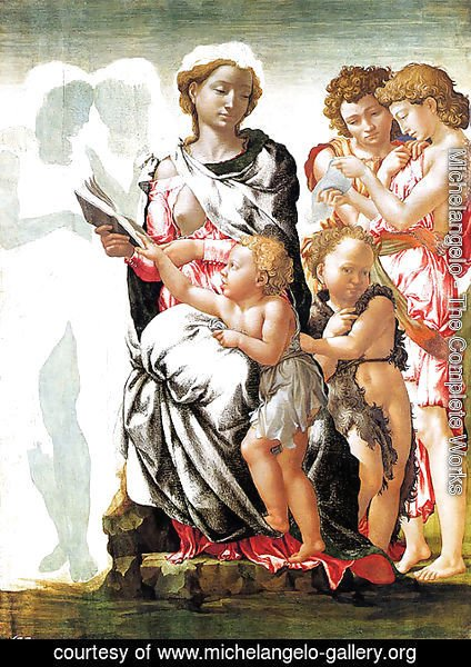 Michelangelo - The Virgin and Child with Saint John and Angels (Manchester Madonna)