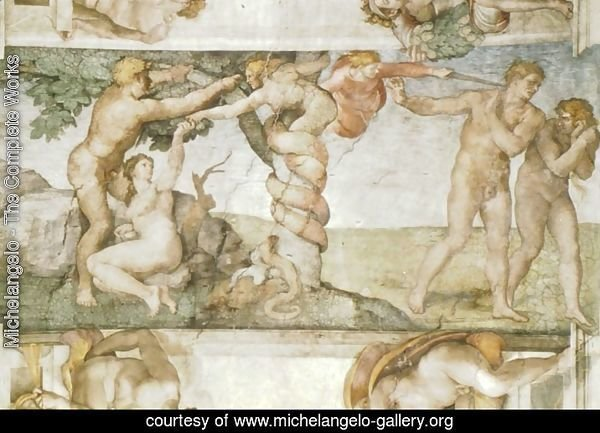 Sistine Chapel Ceiling The Temptation and Expulsion